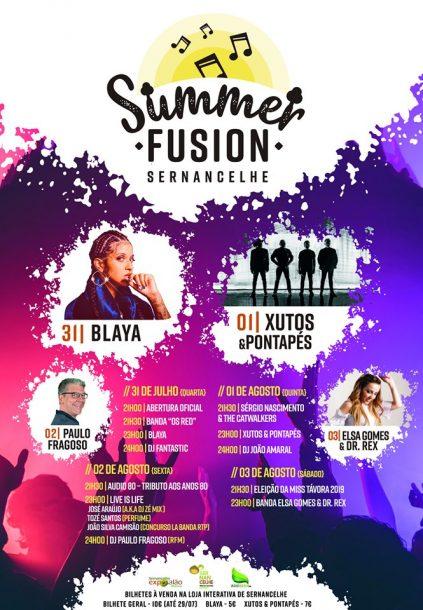 Summer Fusion Sernancelhe cartaz